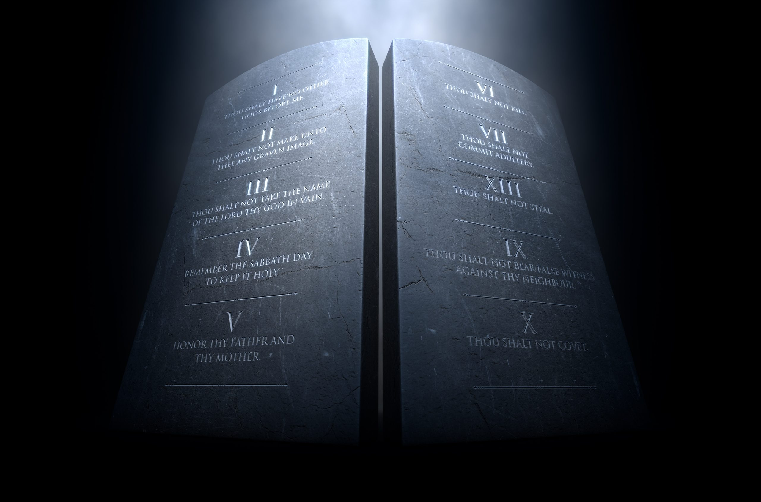 Ten Commandments Stones